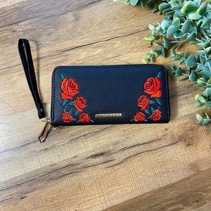 Rampage | Rose Embroidered Clutch Wallet